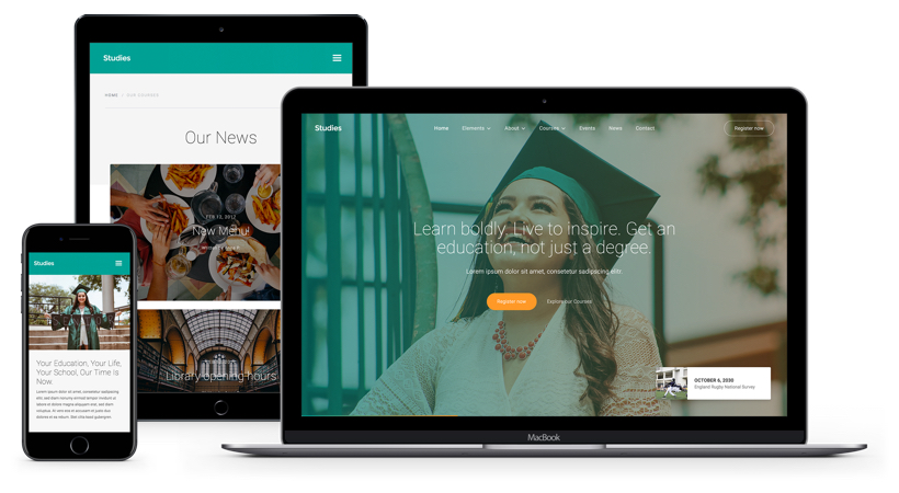 Studies Education Html5 Responsive Website Template