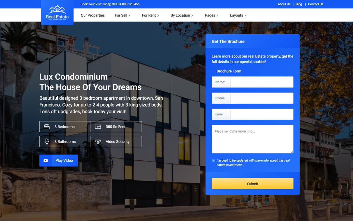 Lux Real Estate Html5 Responsive Website Template