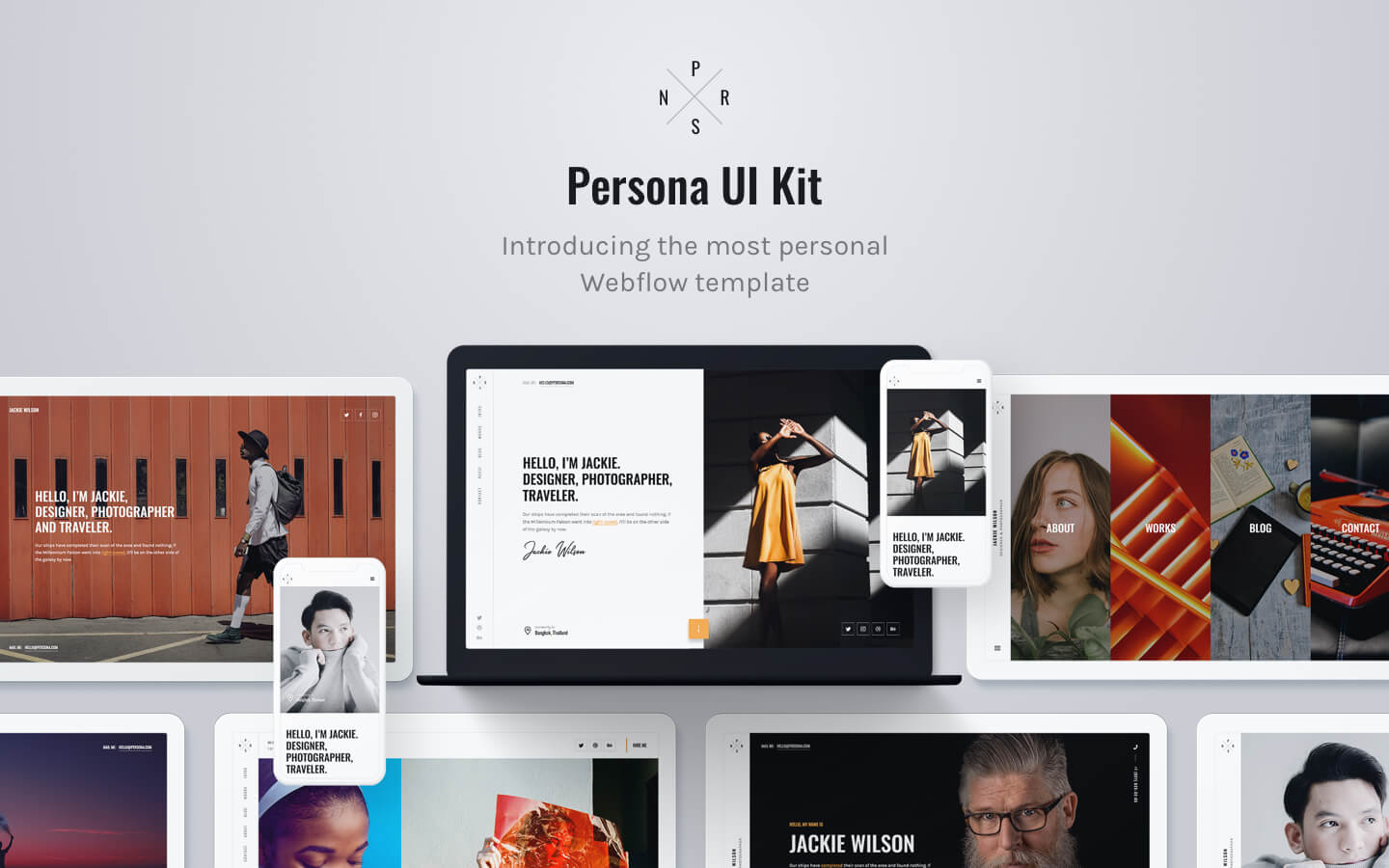 Designer Website Templates Available at Webflow