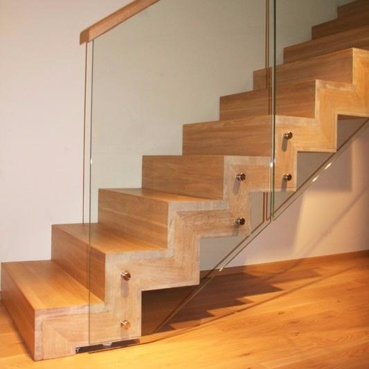 Zig Zag Staircase In Solid Oak