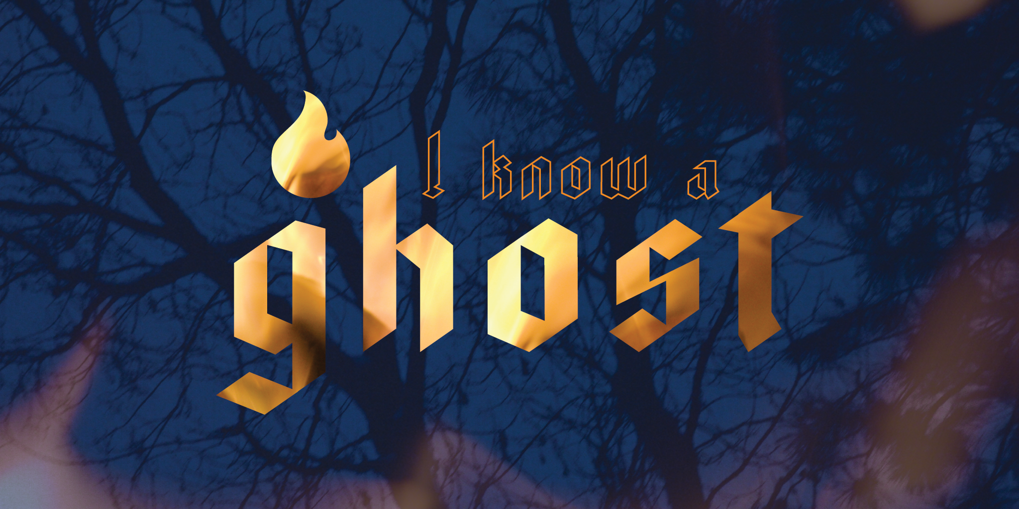 i know a ghost graphic