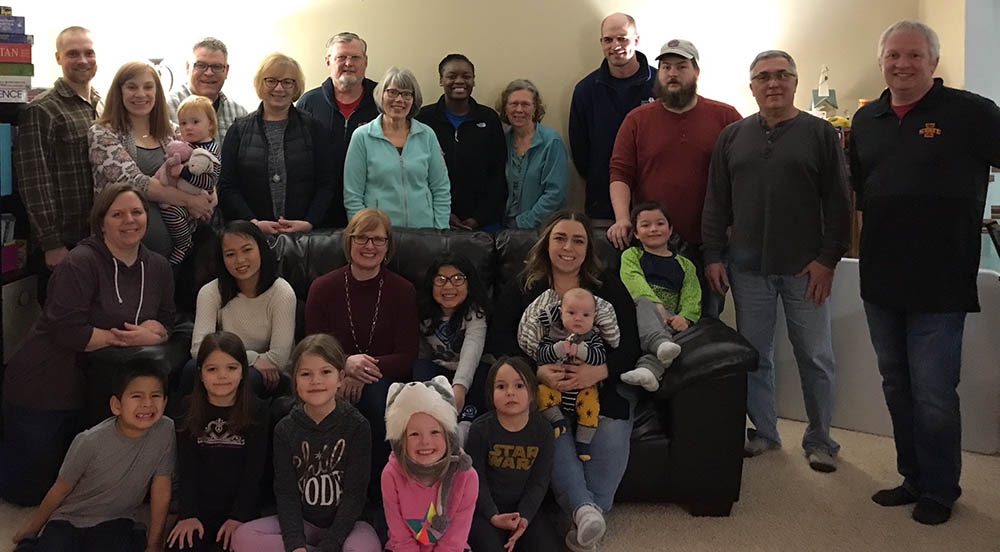 group photo of River Falls Missional Community