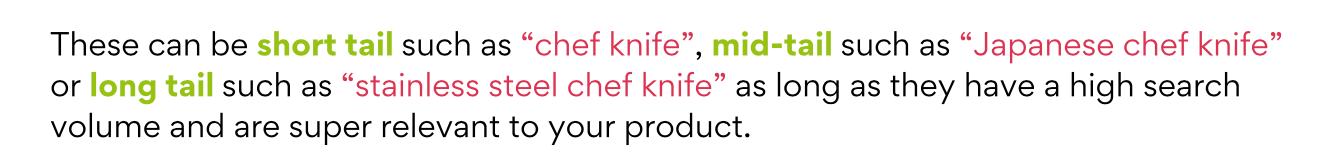 Amazon keyword examples
