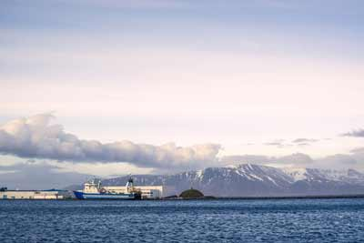 Reykjavik Habrour view for cruise passengers