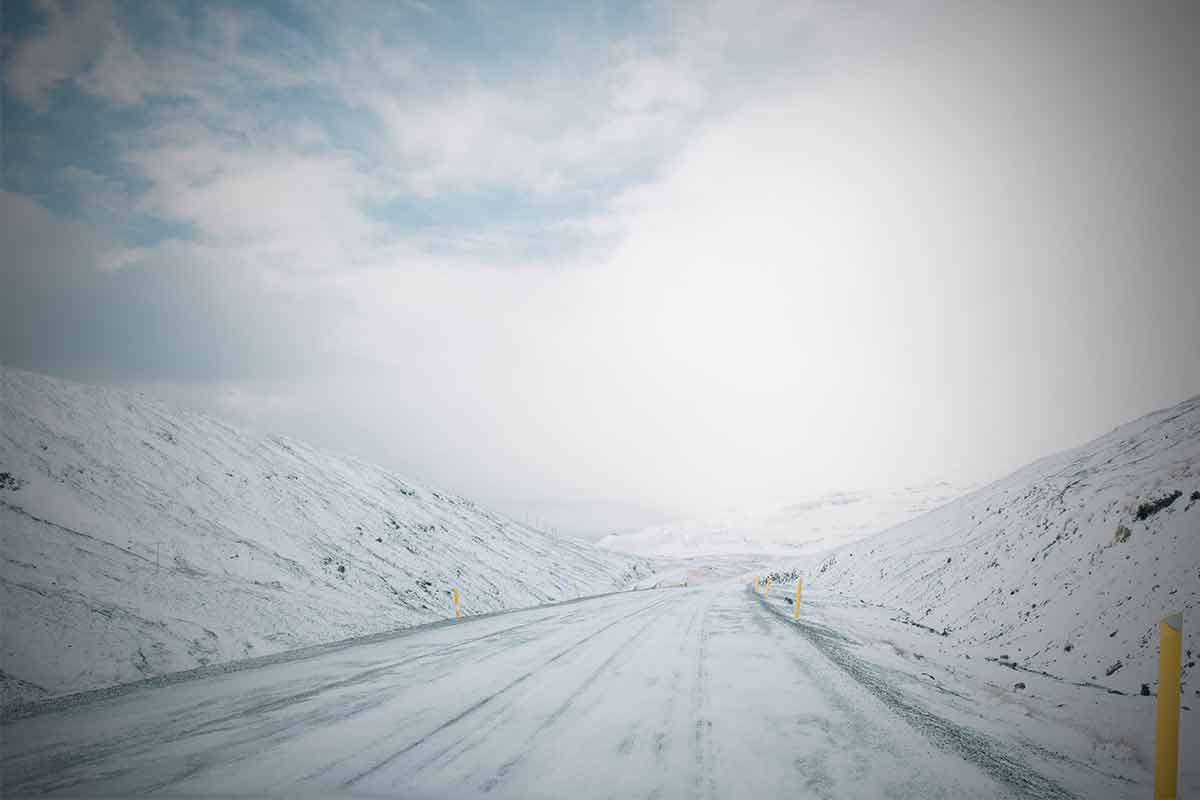 Winter roads in Iceland