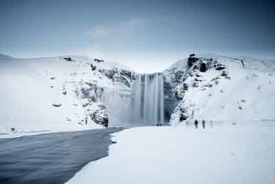 Skógafoss in Winter
