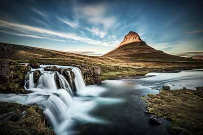 Kirkjufell mountain on Snæfellsnes peninsula