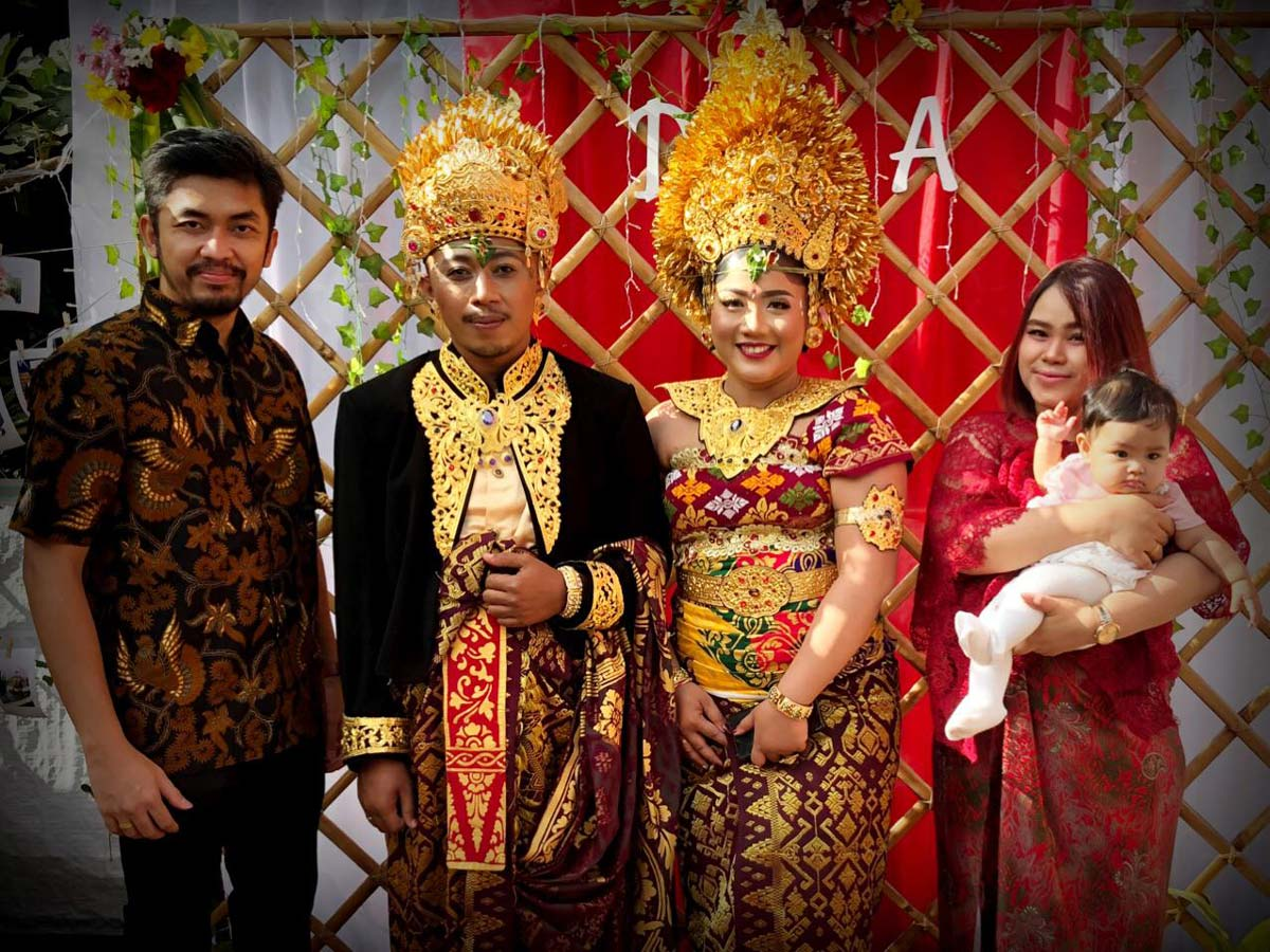Dedy, Josua and family at Dedy's wedding