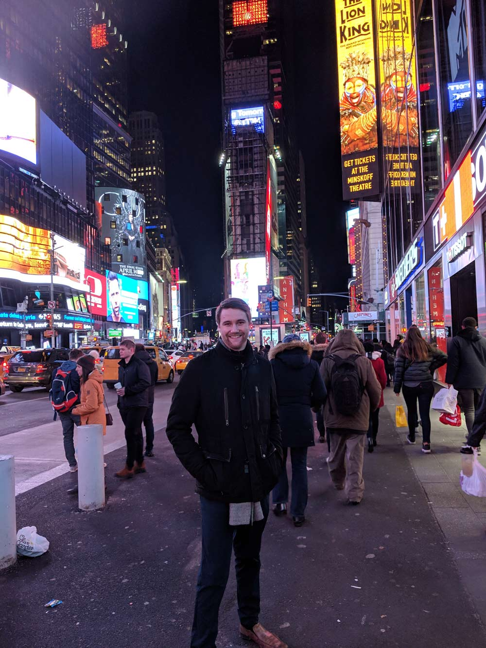 Connor in New York City