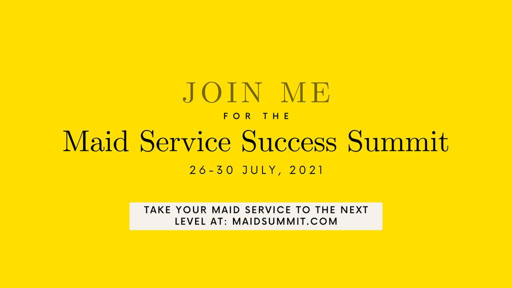 Maid Service Success Summit 2021 - register banner.