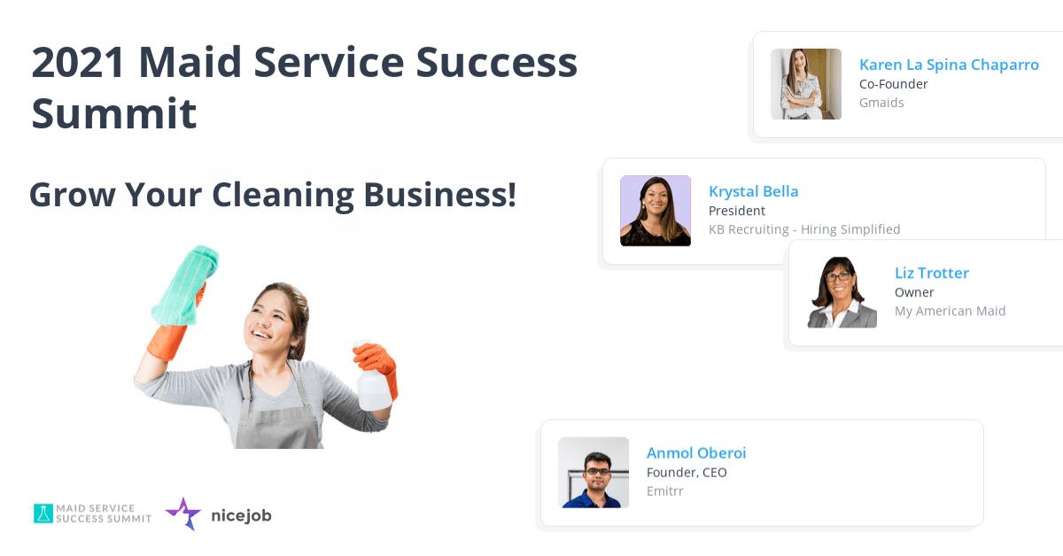 2021 Maid Service Success Summit banner image.