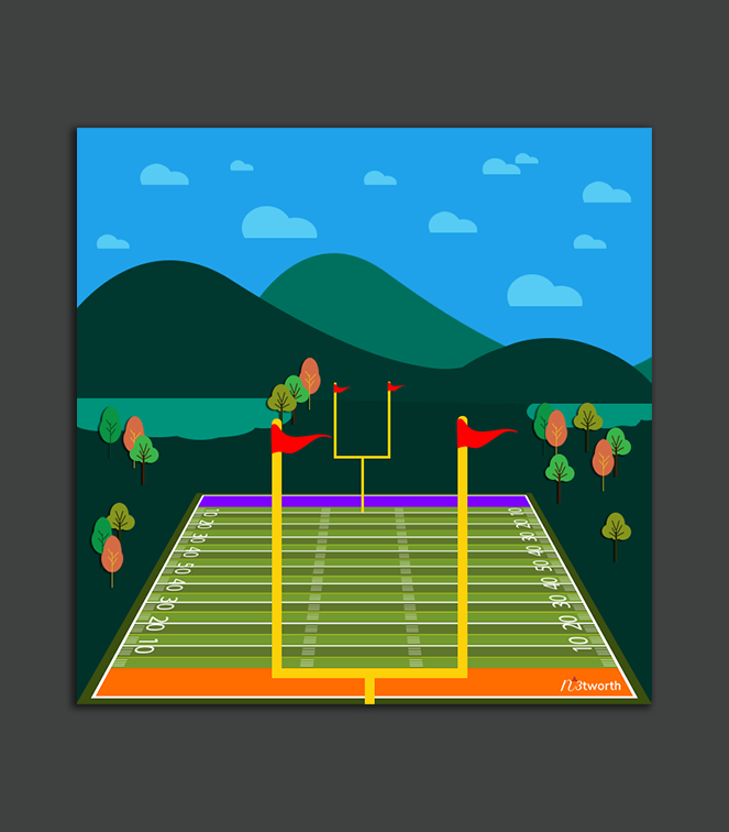 Football Field 1 Editable