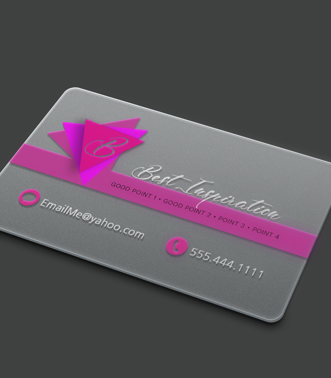 Plastic Business Card 1