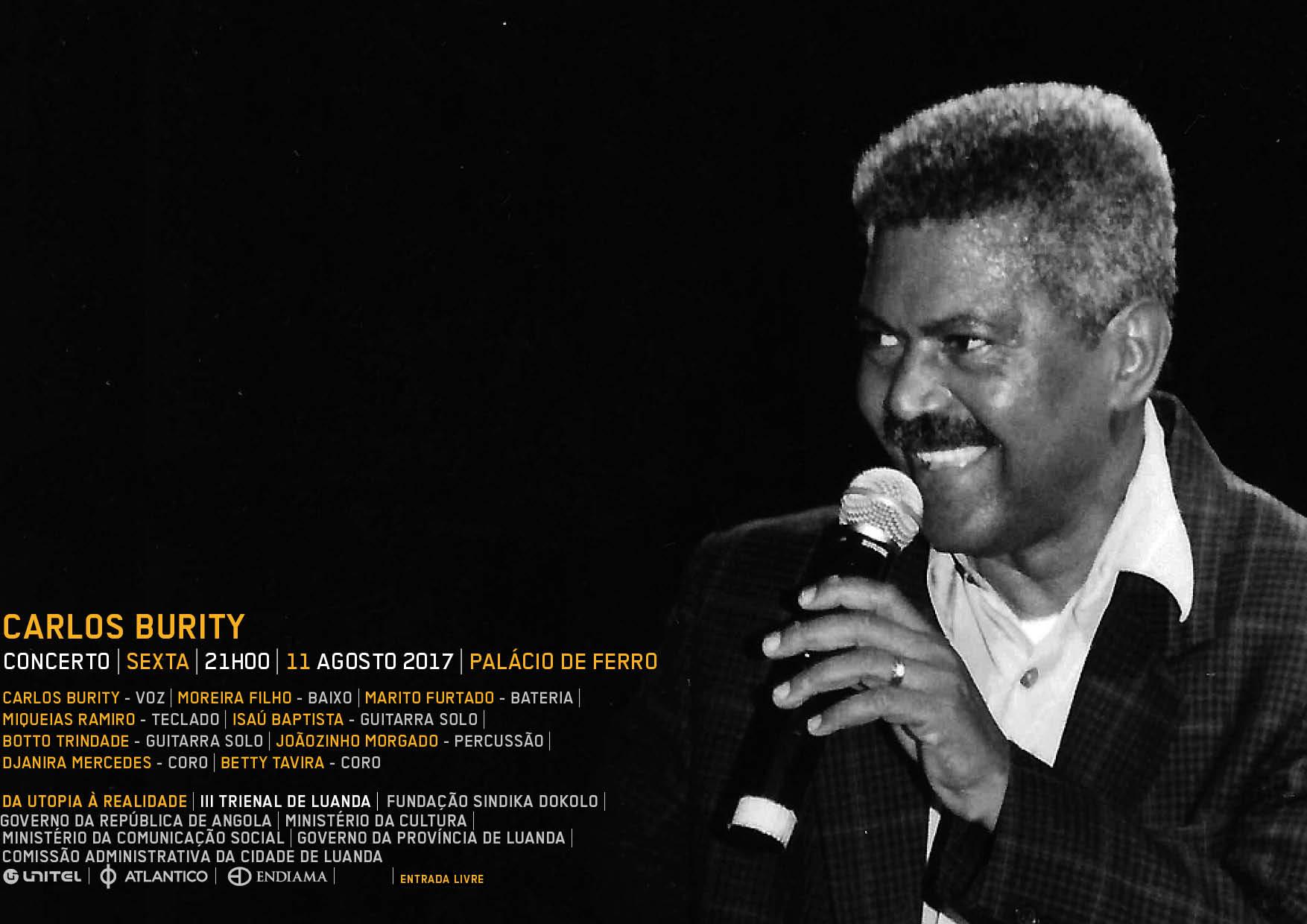 Carlos Burity leva concerto à III Trienal de Luanda