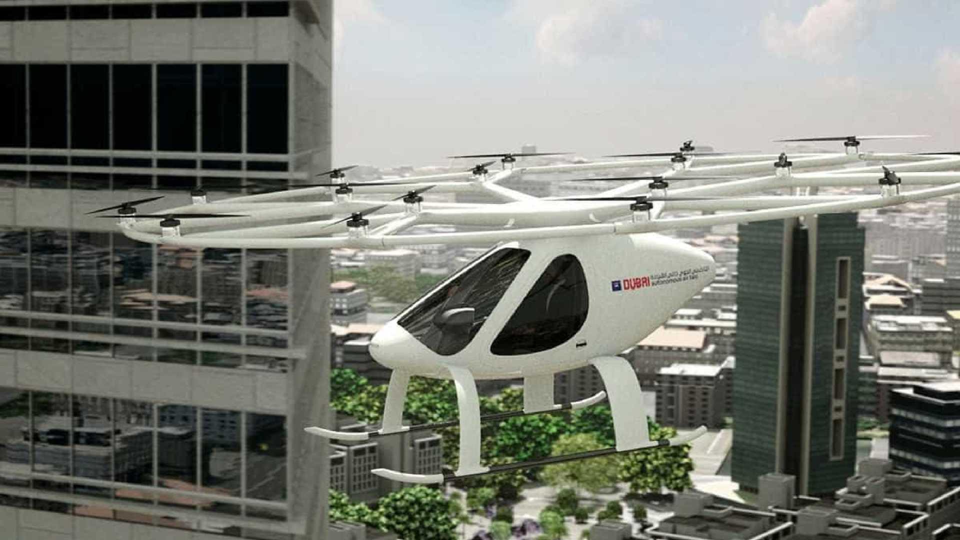 EAU: Táxi voador autónomo foi testado com sucesso no Dubai