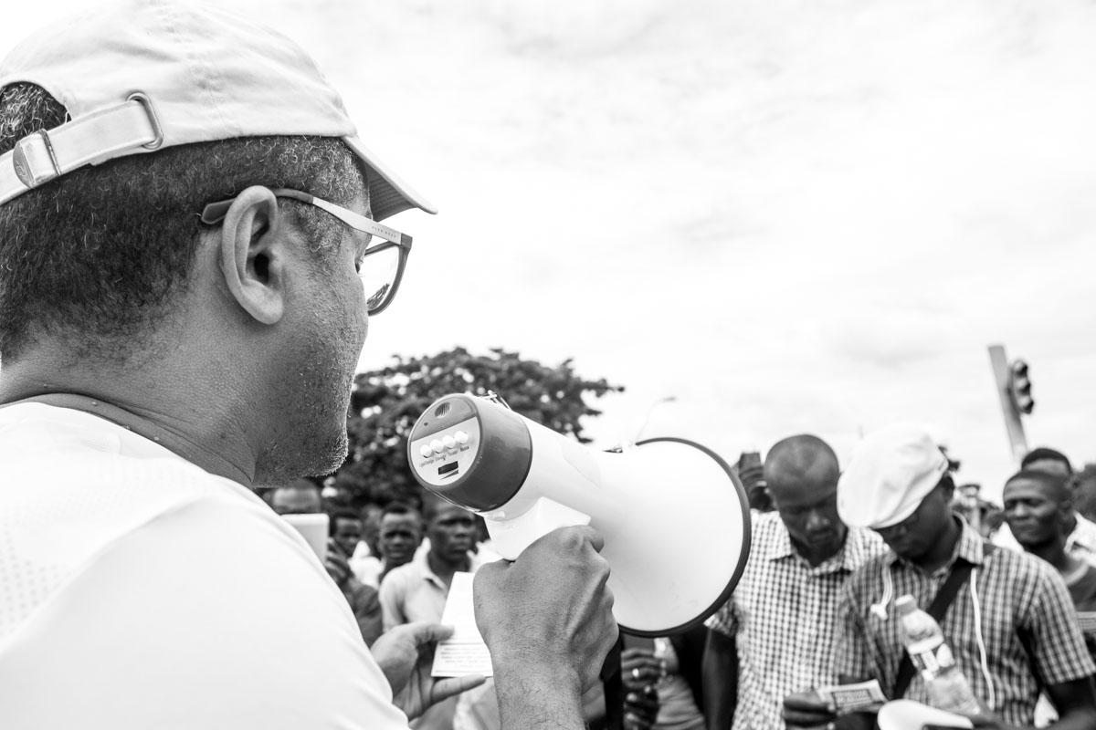 Rostos da manifestação contra a proposta de Lei Sobre Repatriamento de Capitais