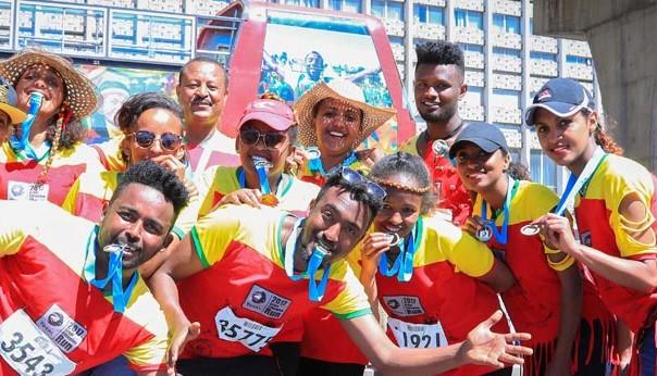 Grande Corrida Etíope com pacote promocional para participantes