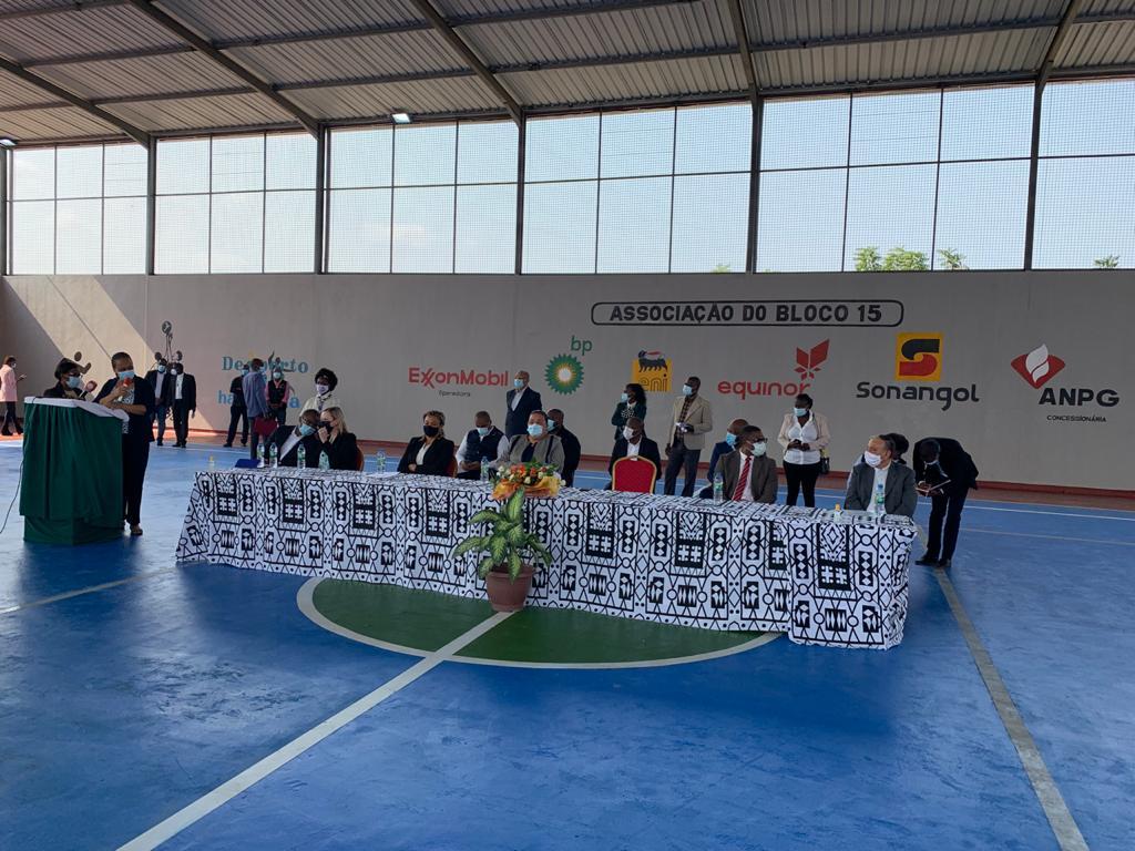 ANPG e parceiros inauguram pavilhão desportivo com um investimento de 350 mil dólares