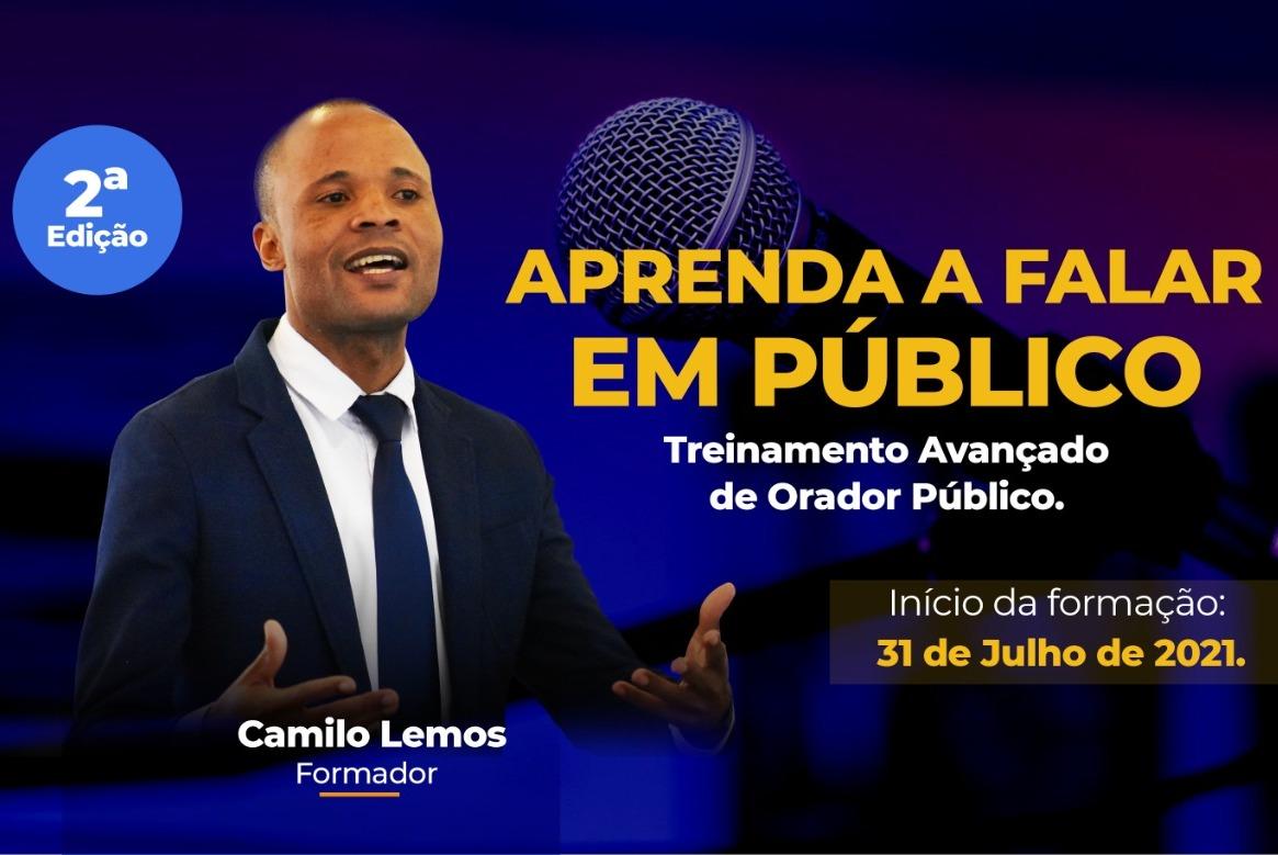 Camilo Lemos ministra treinamentos avançados de fala em público e assessoria de imprensa