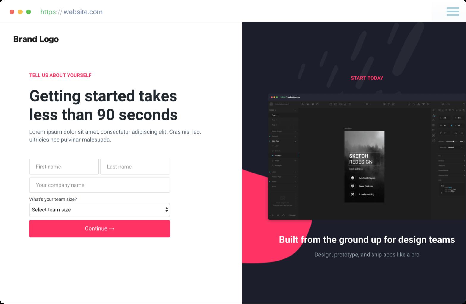 Add a hook in landing page creator