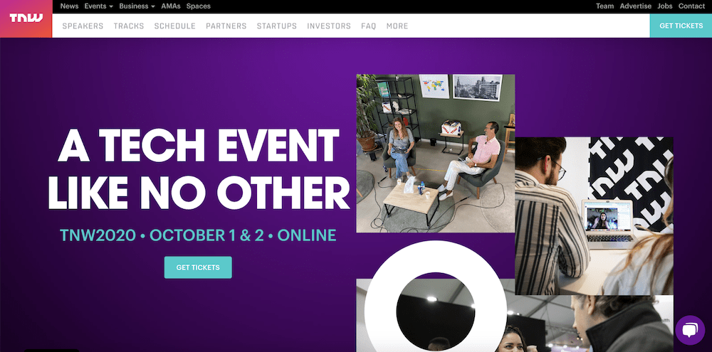 The Next Web conference page