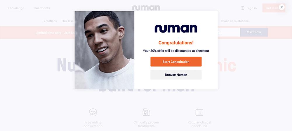 Numan popup step 2