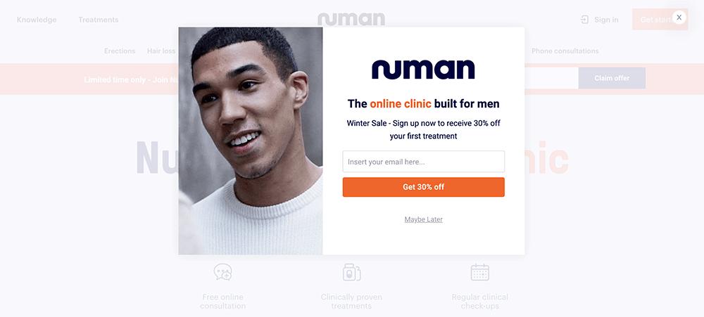 Numan popup step 1