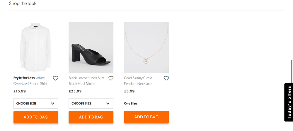 New Look 'Shop the Look' section