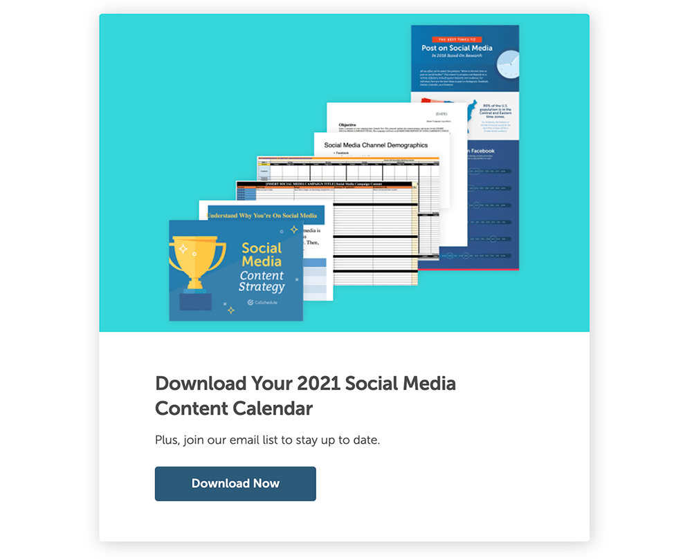 CoSchedule social media calendar