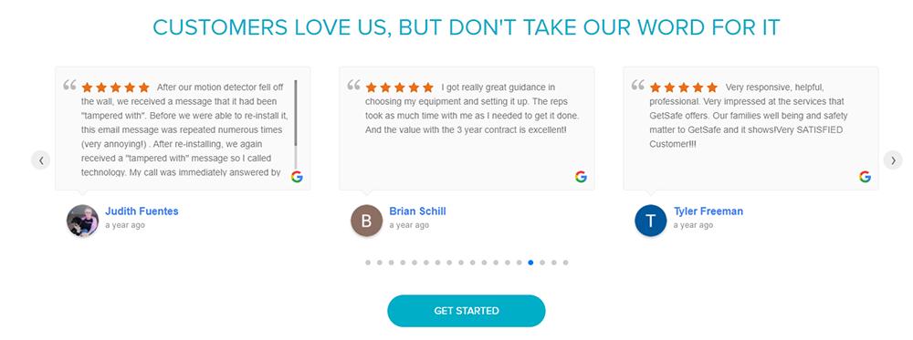 GetSafe customer reviews