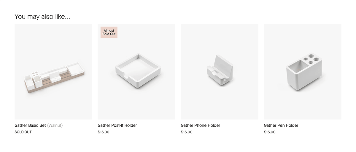 Ugmonk cross-sell product recommendations
