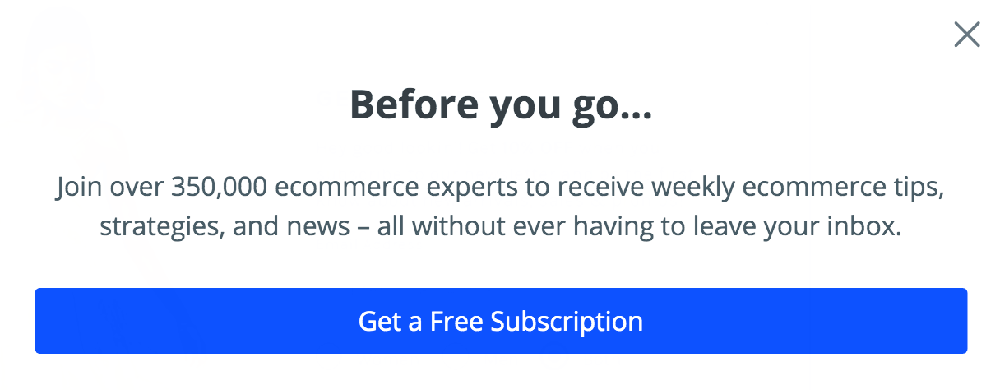 BigCommerce popup example