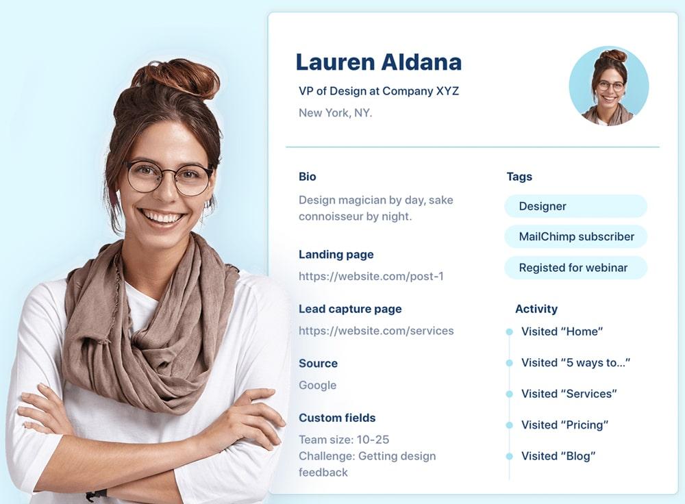 Progressive profiling contact example
