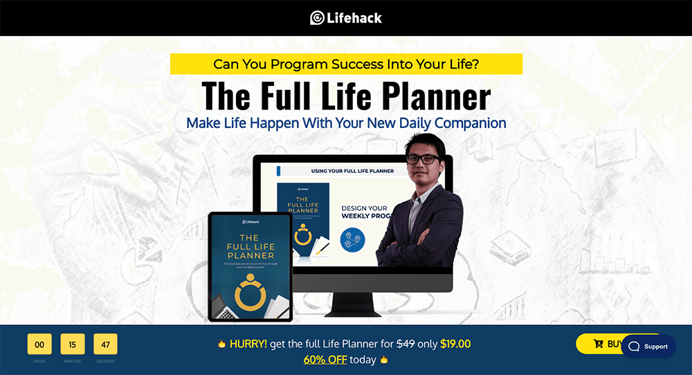 The Full Life Planner landing page