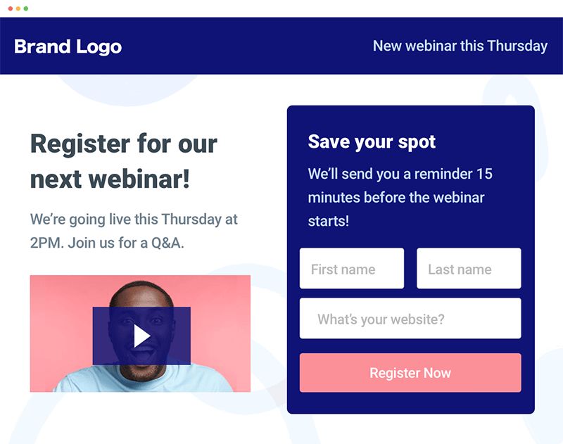 Progressive profiling in landing page contacts