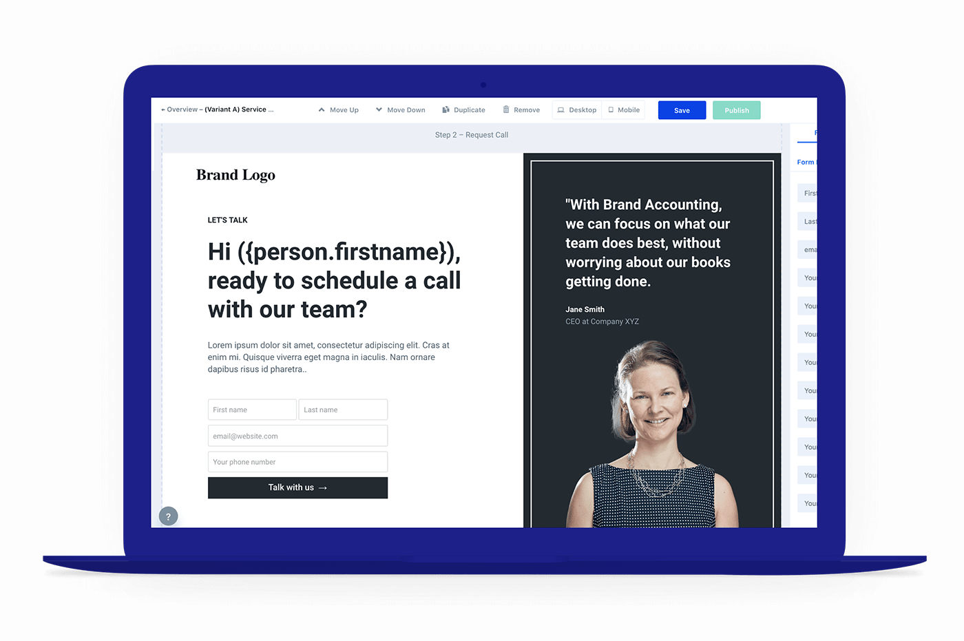 Personalize your landing pages