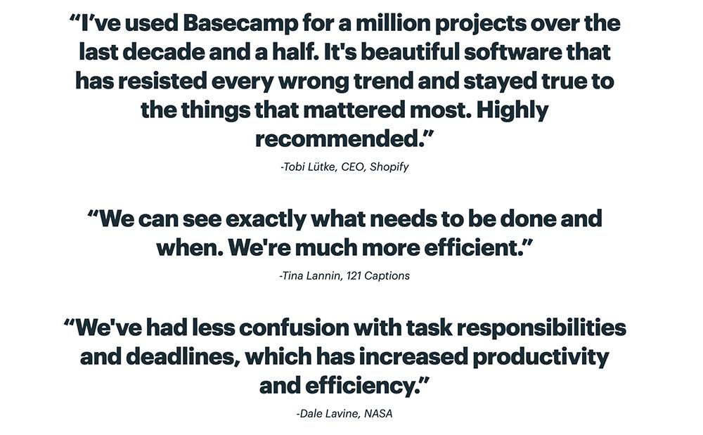 Basecamp reviews