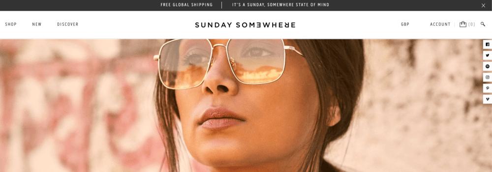 Free Shipping Bar Examples: Sunday Somewhere