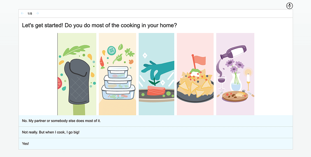 Lead generation quiz example: Pampered Chef