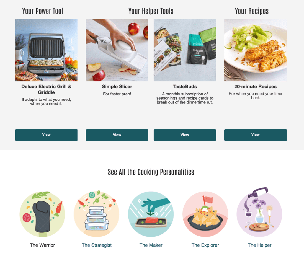 Pampered Chef final quiz step