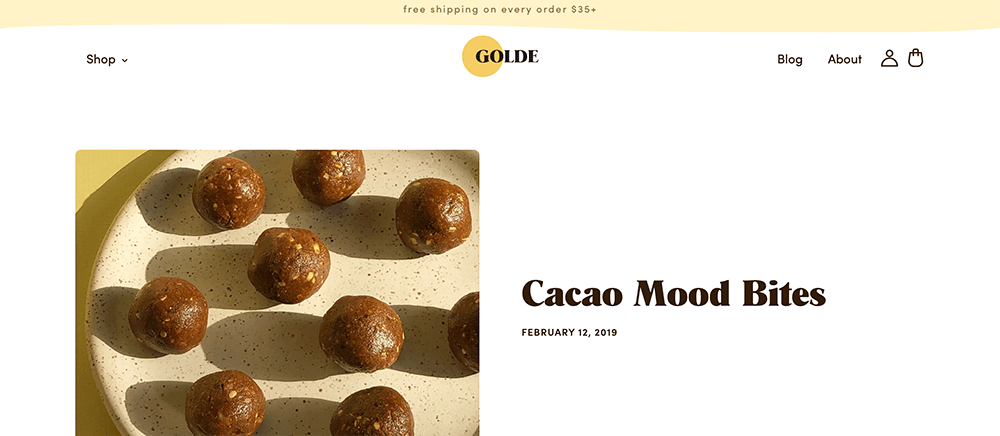 Sticky Bar Examples: Golde