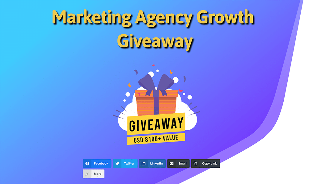 Contest Landing Page Examples: Marketing Agency Growth Giveaway