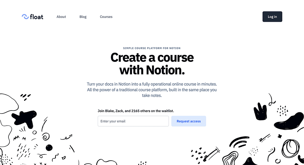 Coming Soon Landing Page Examples: Float