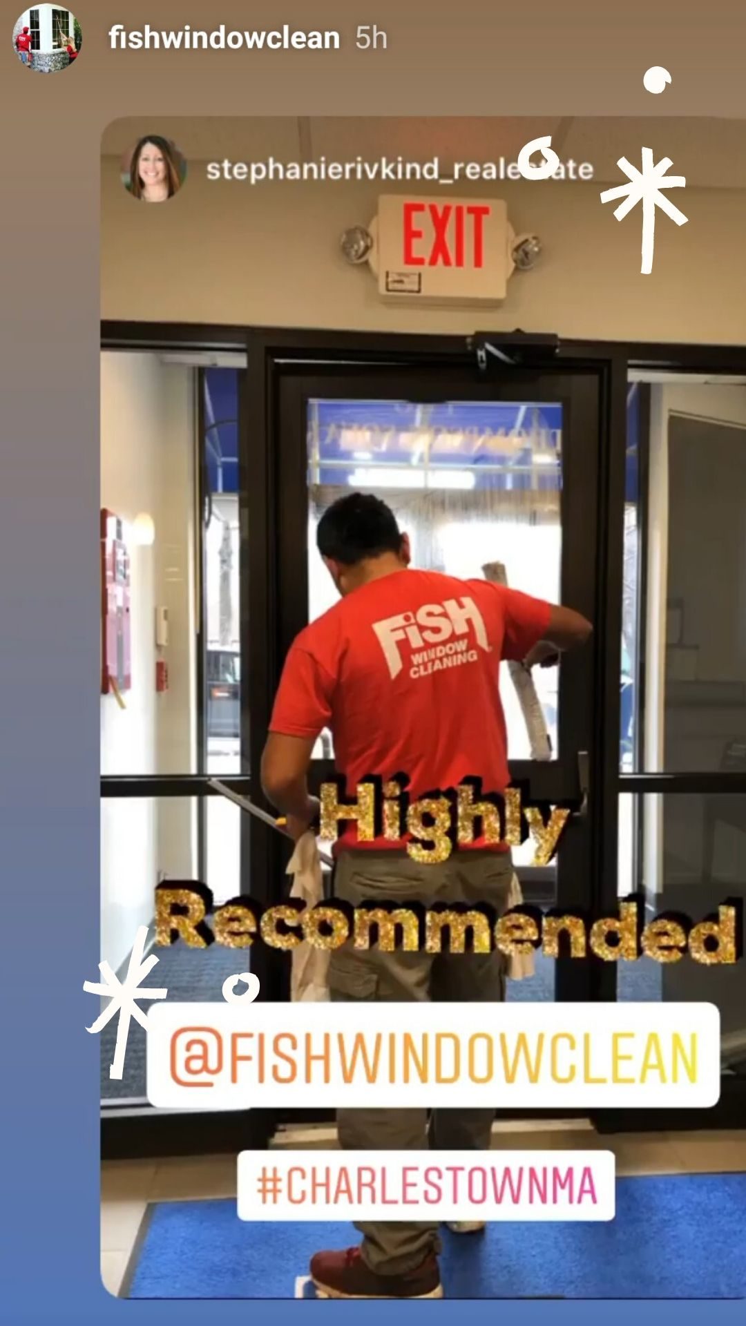 Instagram story from Fish Window Clean
