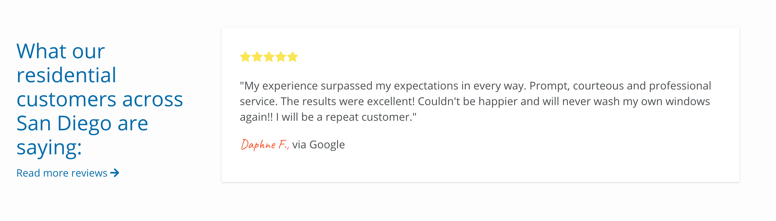 Screen shot of a review used on a Convert website