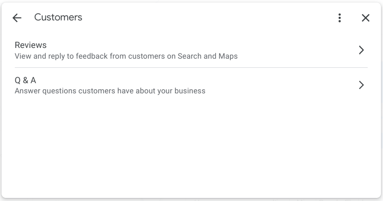 Screenshot of Customers changes for Google My Business in Google Search to reply to reviews on Google..