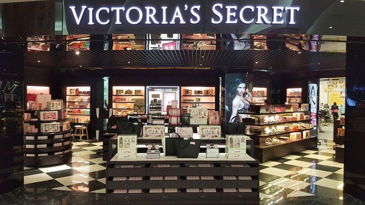 Image of Victoria's Secret branding.