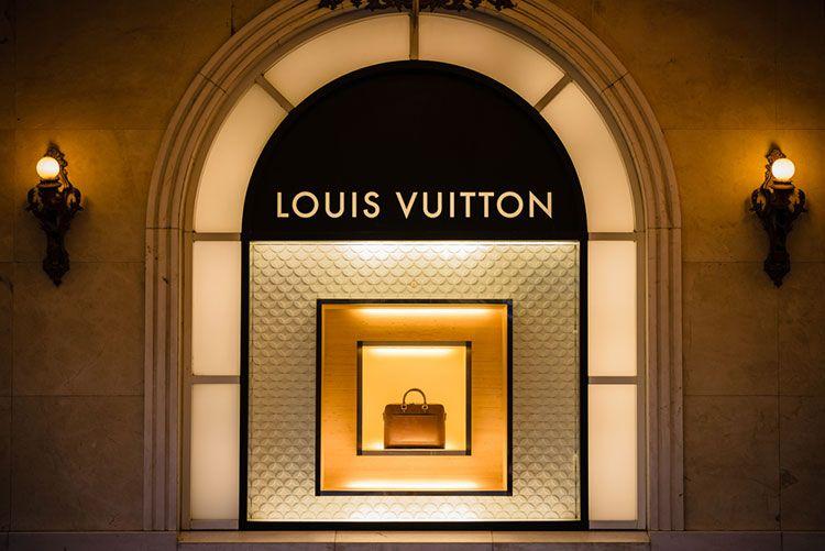 Image of Louis Vuitton branding.