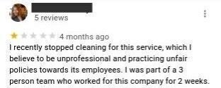 Example of a Google review with a conflict of interest.