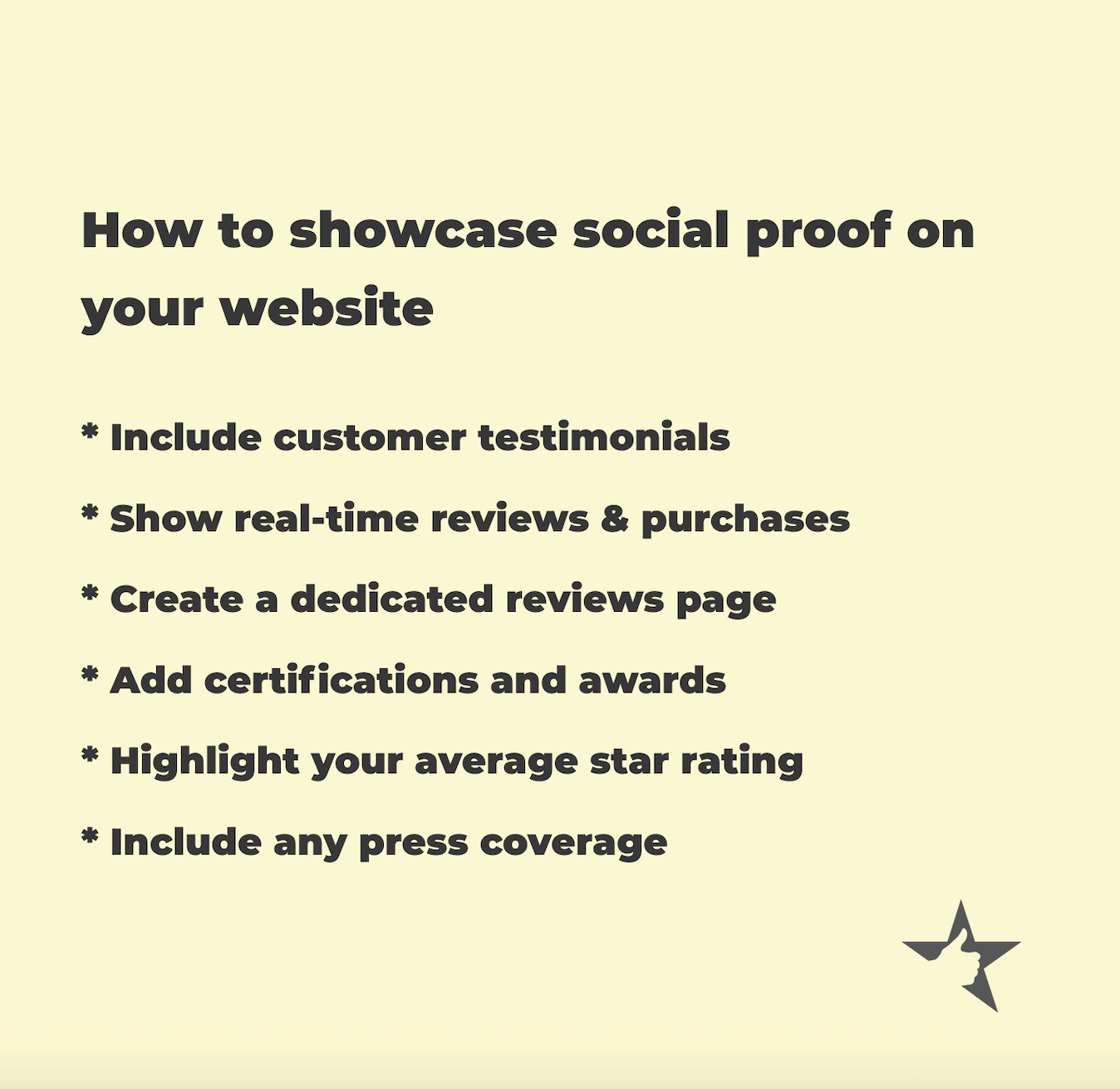 Graphic showing ways to use social proof in copywriting